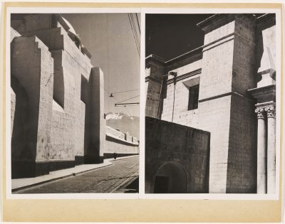 Josef Albers, Kathedrale in Arequipa, o.J., Silbergelatineabzüge auf Karton montiert; © The Josef and Anni Albers Foundation