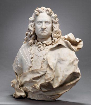 Pierre Étienne Monnot, Landgraf Karl von Hessen-Kassel, 1714, 84×81×44 cm; Museumslandschaft Hessen Kassel © Museumslandschaft Hessen Kassel / Foto: Arno Hensmanns