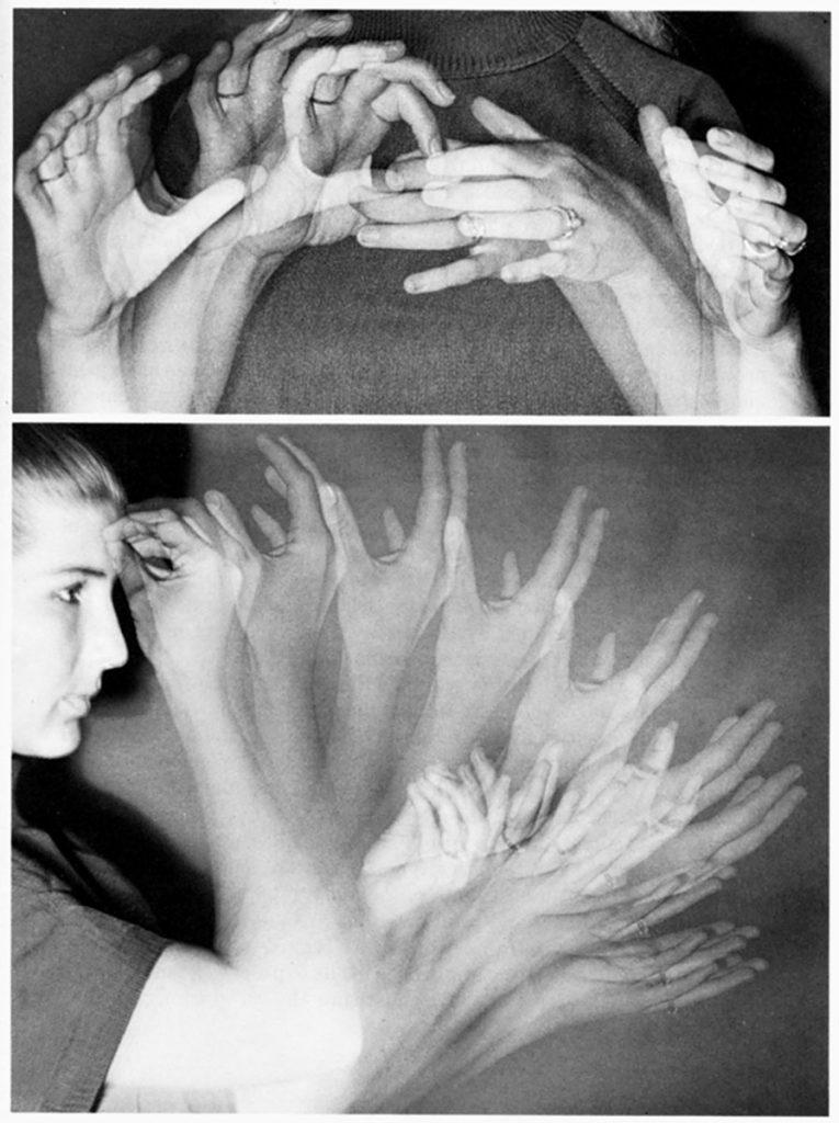 Stroboskopien der Amerikanischen Gebärdensprache (ASL), 1979; Deutsches Hygiene-Museum Dresden © Ursula Bellugi