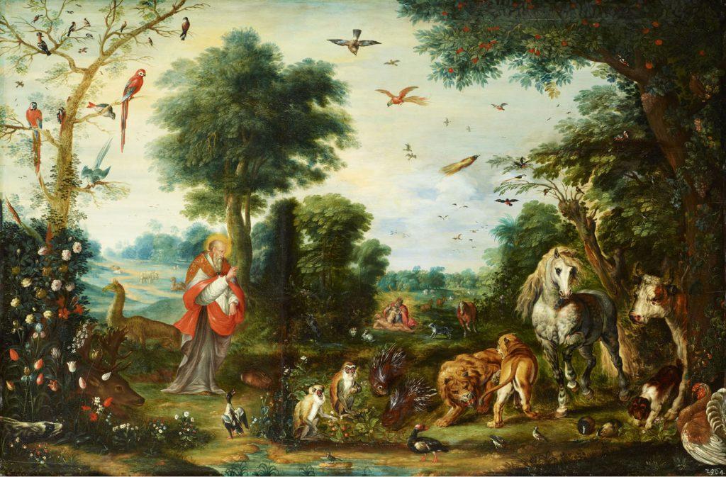 Jan Breughel d. J. und Nachahmer, Paradieslandschaft mit der Erschaffung der Tiere; Gemäldegalerie Alte Meister © Staatliche Kunstsammlungen Dresden