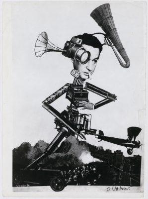 UMBO, Der rasende Reporter, 1926, 30×20,9 cm; Förderung 2016 für die Berlinische Galerie (© Phyllis Umbehr / Galerie Kicken Berlin / VG Bild-Kunst, Bonn 2016)