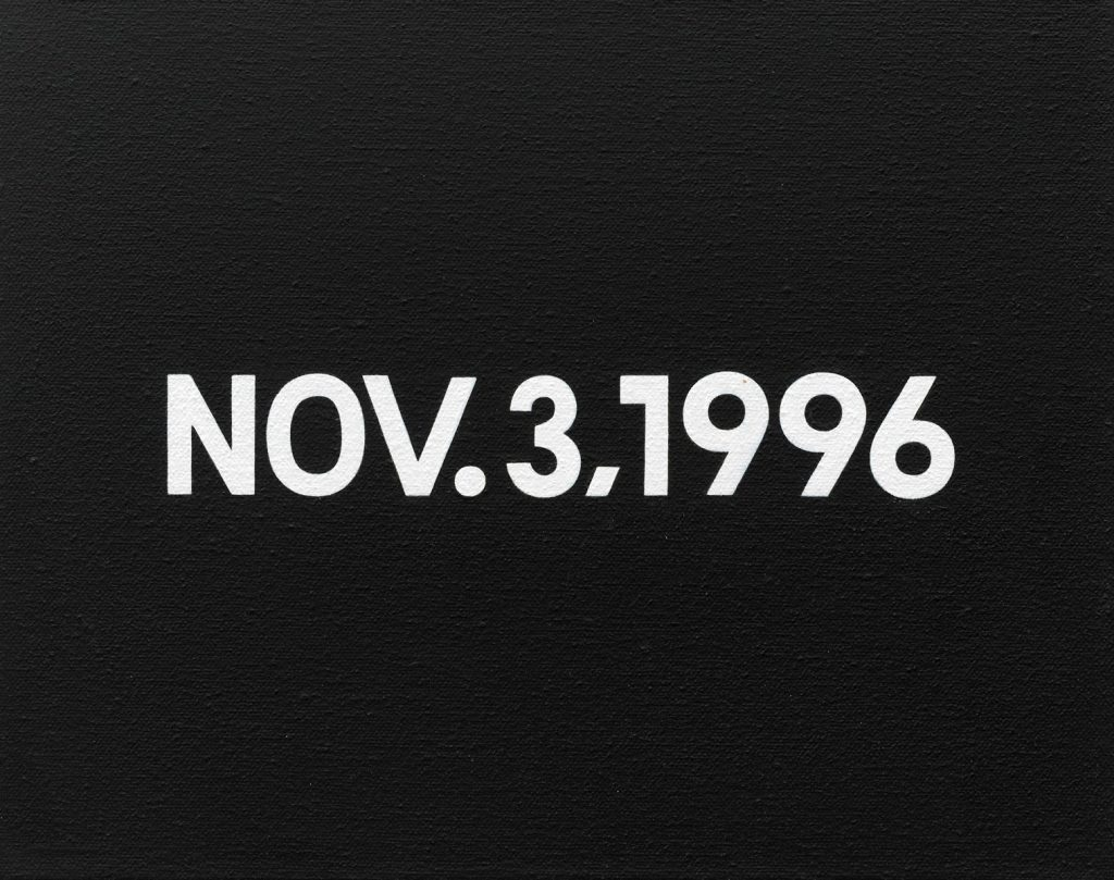 On Kawara, NOV.3, 1996, 1996, aus Today Series (1966 – 2013), 20,5 × 25,5 × 4,5 cm; Kunstsammlung Nordrhein-Westfalen; © The Estate of On Kawara / Foto: Achim Kukulies