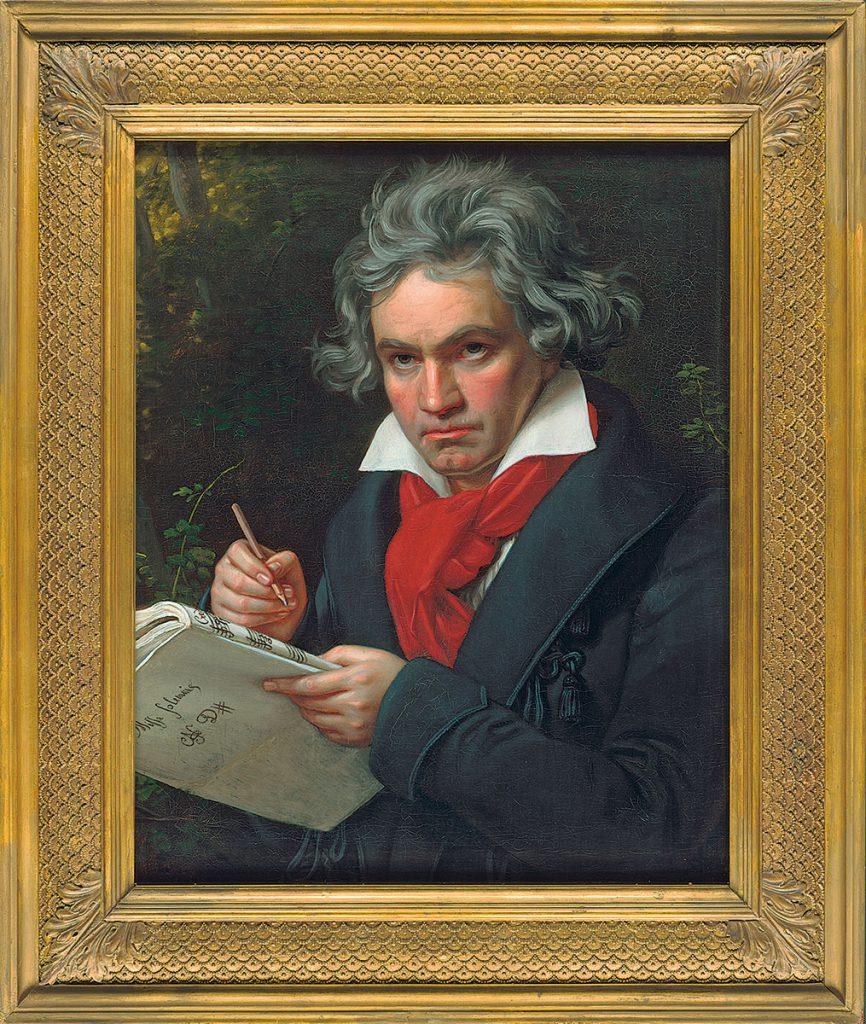 Josef Karl Stieler, Beethoven mit dem Manuskript der Missa solemnis, 1820; Beethoven-Haus Bonn; © Beethoven-Haus Bonn