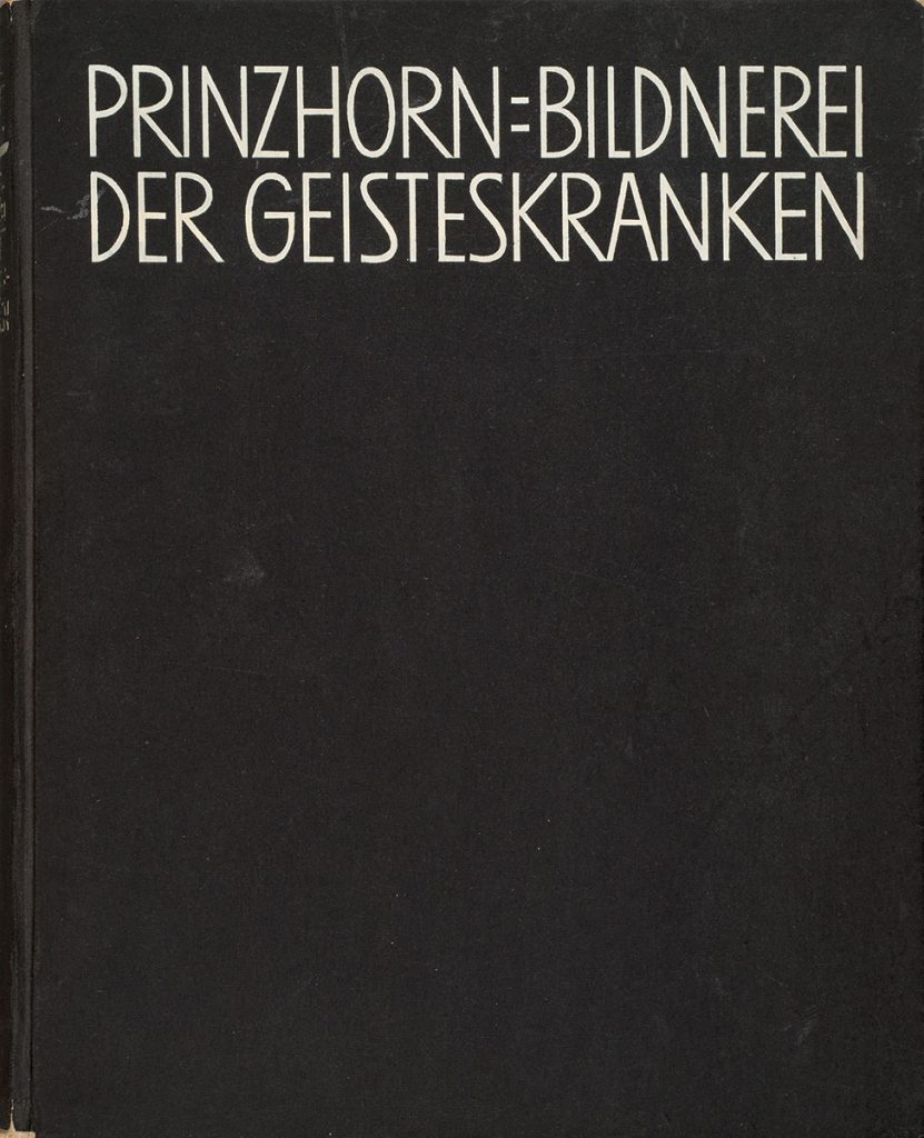 """Cover der 1922 erschienenen ersten Ausgabe von Hans Prinzhorns """"Bildnerei der Geisteskranken""""; Sammlung Prinzhorn, Universitätsklinikum Heidelberg; © Sammlung Prinzhorn, Universitätsklinikum Heidelberg"""