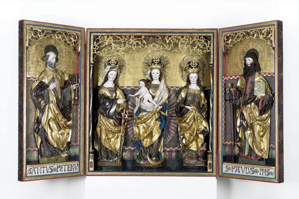 Peter Breuer und Werkstatt, sog. Callenberger Altar (geöffneter Zustand), 1512/13, Grassimuseum für angewandte Kunst, Leipzig