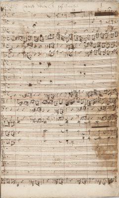 """Johann Sebastian Bach, erste Seite der Partitur zur Kantate BWV 20  """"O Ewigkeit, du Donnerwort"""", 1724; © Sammlung Bach-Archiv Leipzig"""