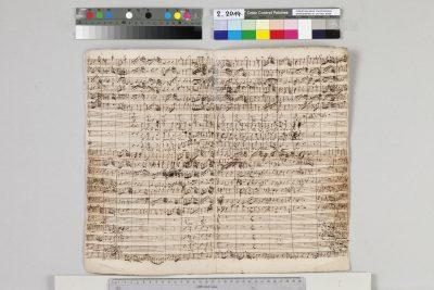 "Johann Sebastian Bach, Partitur zur Kantate BWV 20  ""O Ewigkeit, du Donnerwort"", 1724; © Sammlung Bach-Archiv Leipzig"