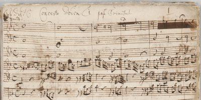 """Johann Sebastian Bach, erste Seite der Partitur zur Kantate BWV 20 """"O Ewigkeit, du Donnerwort"""", 1724 (Ausschnitt); © Sammlung Bach-Archiv Leipzig"""