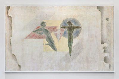 "Oskar Schlemmer, Wandbild ""Familie"" für das Haus der Familie Keller, 1940, 220×450 cm; Staatsgalerie Stuttgart"