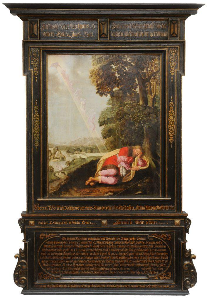 Michael Conrad Hirt (zugeschrieben), Epitaph für Heinrich Retzlow, 1642; Berlin, Marienkirche, nach der Restaurierung, © Marienkirche, Berlin / Foto: Andreas Mieth