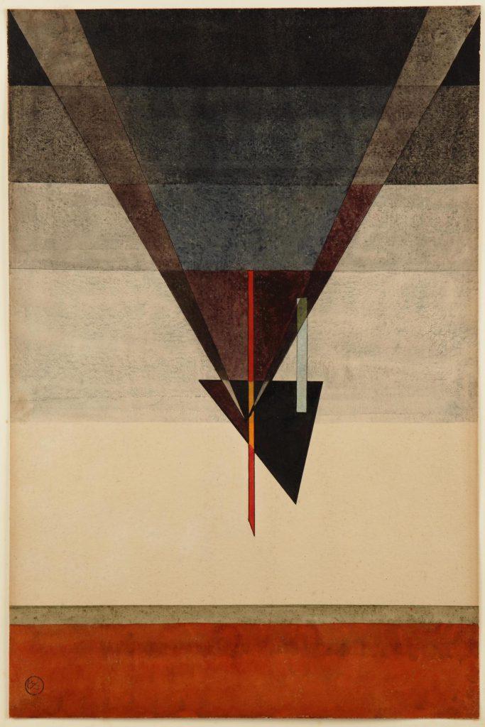 Wassily Kandinsky, Abstieg, 1925, 48 x 32 cm; Kunstmuseum Moritzburg Halle (Saale)