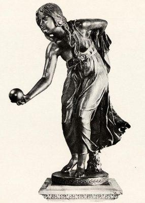 Walter Schott, Die Kugelspielerin, o.J., Auktionskatalog Rudolph Lepke Berlin, 1934, Los-Nr. 129, © UB Heidelberg