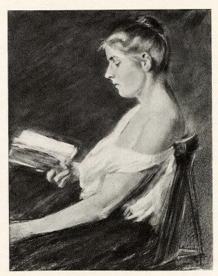 Max Liebermann, Lesendes Mädchen, 1896, Auktionskatalog Rudolph Lepke Berlin, 1934, Los-Nr. 57, © UB Heidelberg