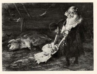 Max Liebermann, Der Schweinestall, o. J., Auktionskatalog Rudolph Lepke Berlin, 1934, Los-Nr. 58, © UB Heidelberg