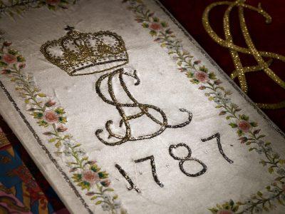 Eine der Huldigungsschriften des Magistrats und der Gilden von Quedlinburg an Prinzessin Sophie Albertine anlässlich ihres Einzugs als Äbtissin in das Reichsstift Quedlinburg von 1787; © Staatsbibliothek zu Berlin - Preußischer Kulturbesitz / Foto: C. Seifert