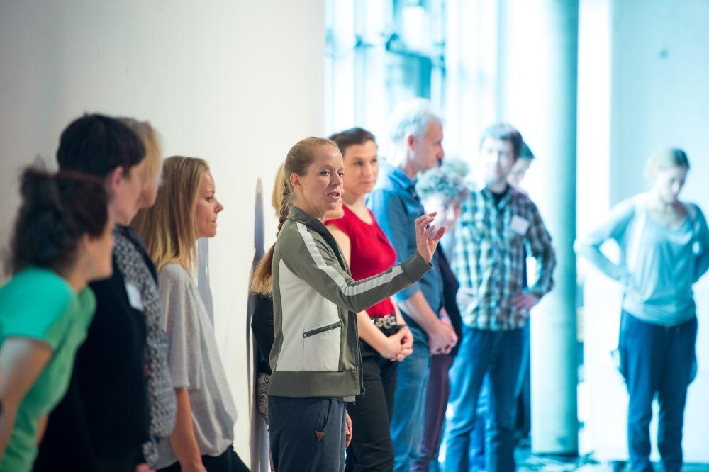 """Eine Impression vom achten Kinder zum Olymp!- Kongresses in Düsseldorf: Praxisforum """"Tanzstunde"""" mit Nora Pfahl im Tanzhaus NRW; © Foto: Stefan Gloede"""
