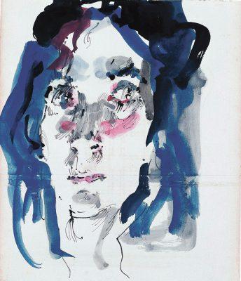 Horst Janssen, Birgit, 1989, 37,6 × 26 cm; Horst-Janssen-Museum Oldenburg; © VG Bild-Kunst, Bonn 2017, Fotos: Isensee Verlag
