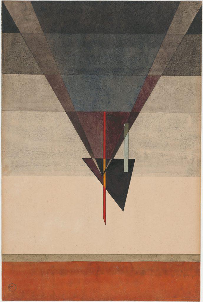 Wassily Kandinsky, Abstieg, 1925, 48 × 32 cm; Kunstmuseum Moritzburg Halle (Saale); © Kunstmuseum Moritzburg, Halle (Saale) / Foto: Stiftung Dome und Schlösser in Sachsen-Anhalt
