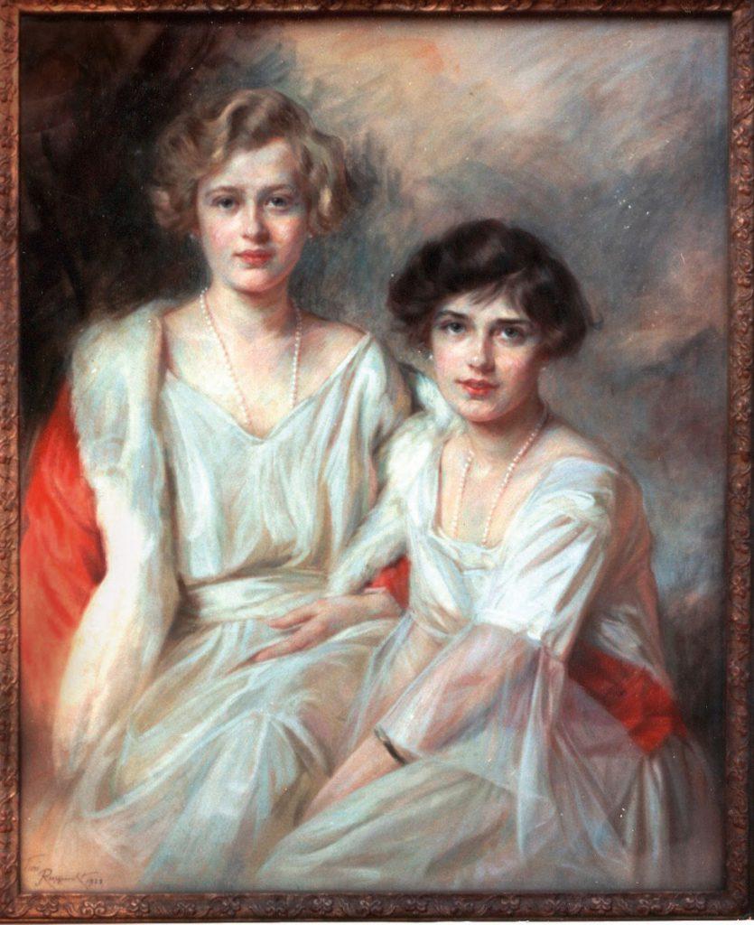Tini Rupprecht, Marie und Elisabeth von Schönburg, 1923, 102 × 82 cm; © Tini Rupprecht, Foto: Museum und Kunstsammlung Schloss Hinterglauchau