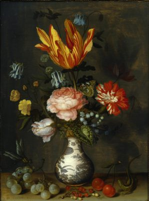 Balthasar van der Ast, Blumen in einer Wan-Li-Vase, 1625-30, 36,6 x 27,7 cm; © Foto: Jim Strong Inc., New York