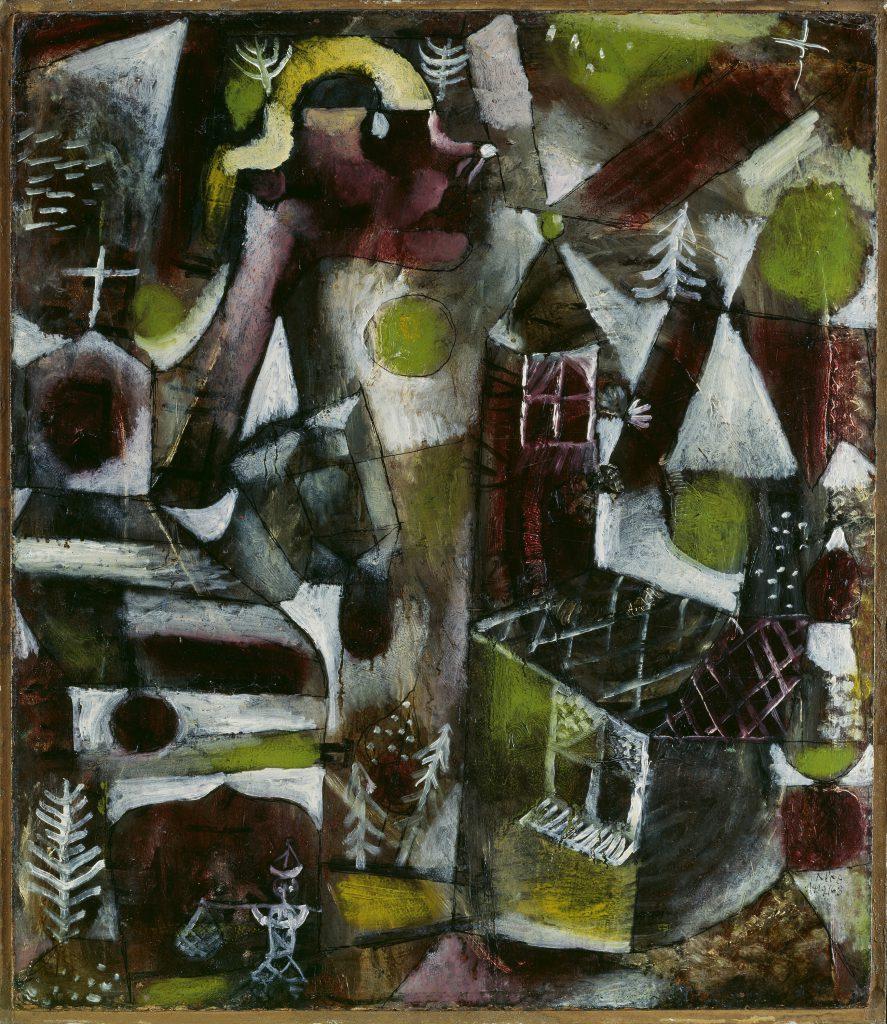 Paul Klee, Sumpflegende, 1919, 47 × 40,8 cm; Städtische Galerie im Lenbachhaus und Kunstbau München und Gabriele Münter- und Johannes Eichner-Stiftung