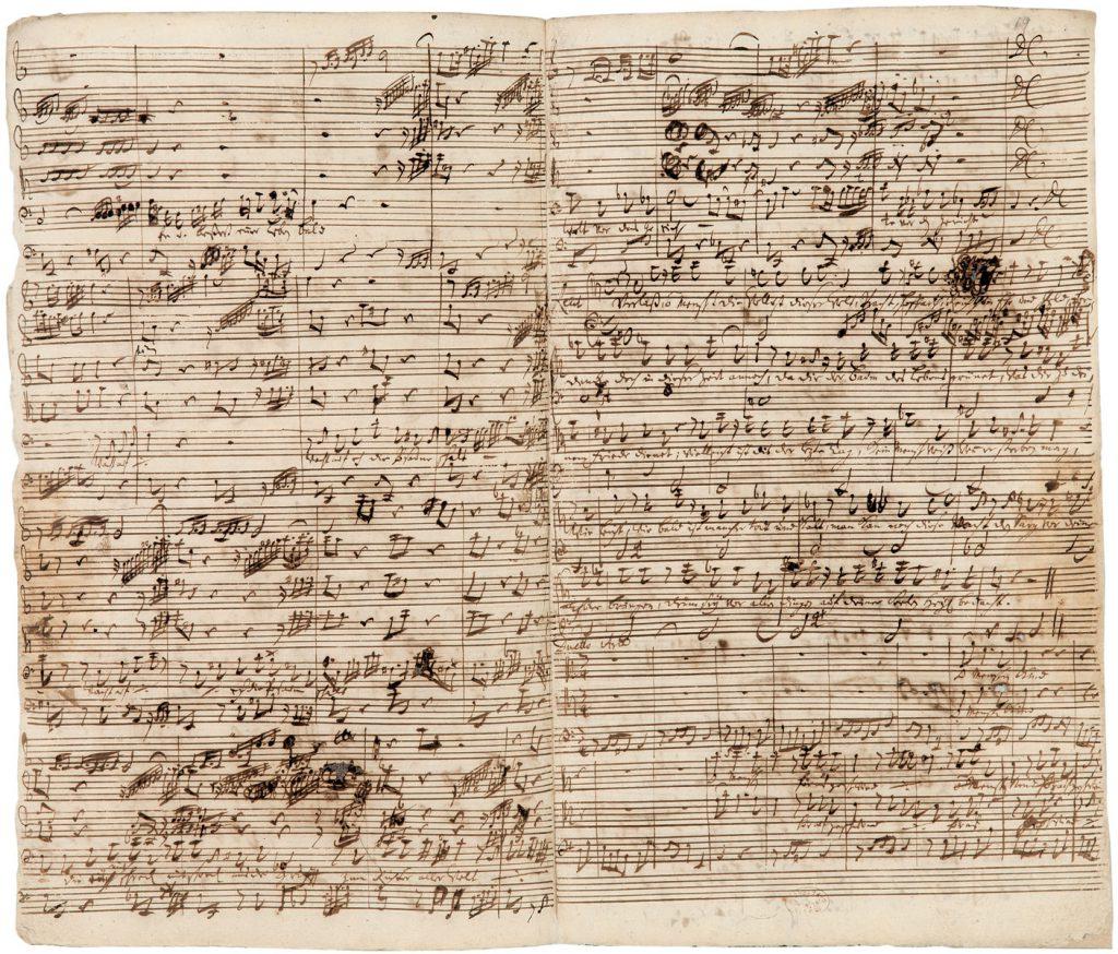 "Johann Sebastian Bach, Partitur zur Kantate BWV 20, ""O Ewigkeit, du Donnerwort"", 1724; Bach-Archiv Leipzig; © Sammlung Bach-Archiv Leipzig"