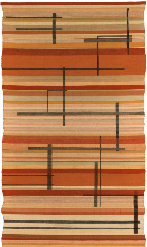 Gertrud Arndt, Wandbehang in Rottönen, um 1926, 173,5×101,5 cm; © VG Bild-Kunst, Bonn 2017 / Bauhaus-Archiv / Museum für Gestaltung, Berlin / Foto: Markus Hawlik
