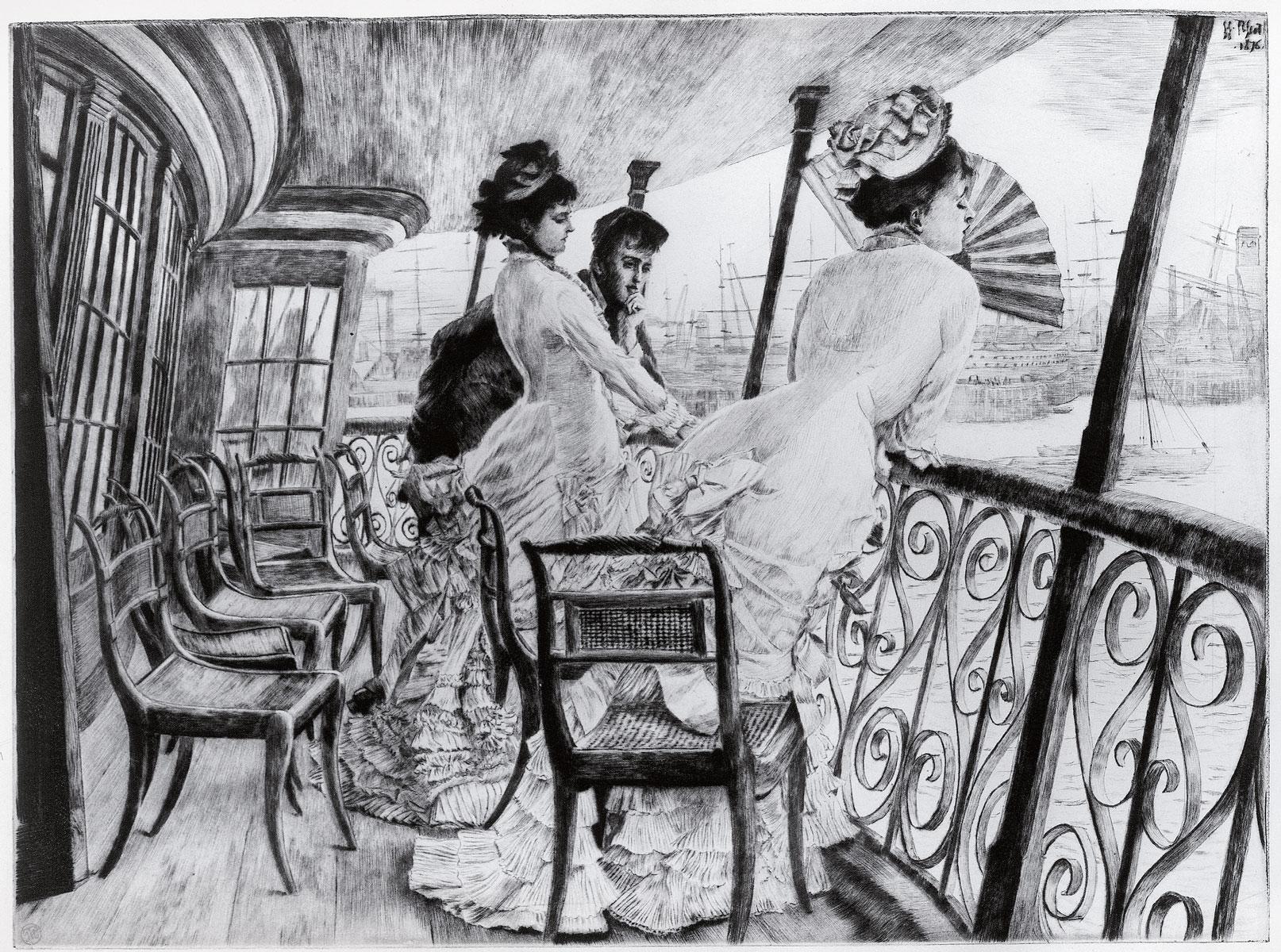 James (Jacques) Tissot, An Bord der Calcutta, 1876; Kunsthalle Bremen; © Kunsthalle Bremen – Der Kunstverein in Bremen