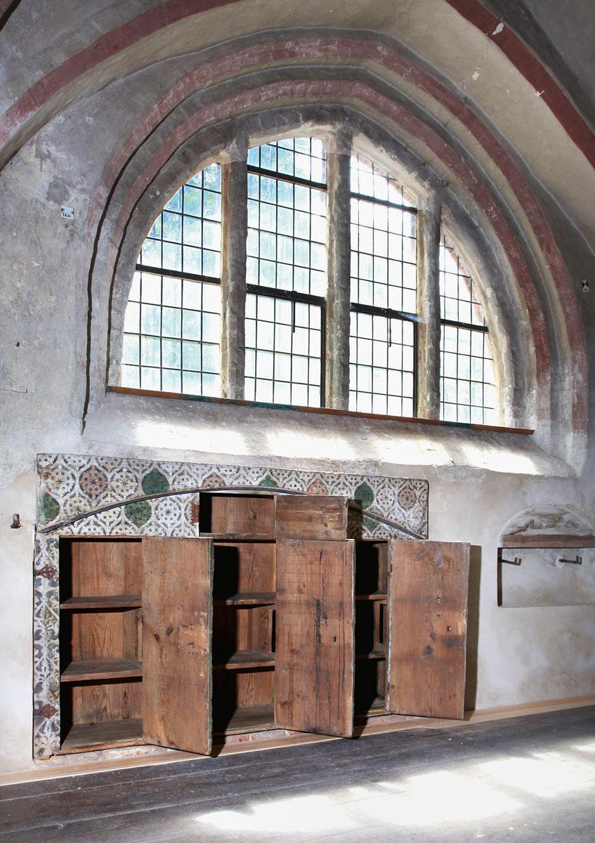 Sakristeischrank, um 1456, 146×222×48,5 cm; St. Katharinen in Brandenburg an der Havel; © Foto: Hans-Uwe Salge