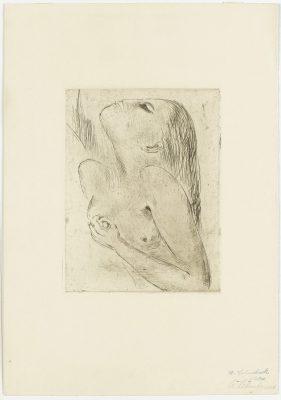 Wilhelm Lehmbruck, Frau, sich erdolchend, 1918, 39,8 x 27,7 cm; Graphische Sammlung, Staatsgalerie Stuttgart; © Staatsgalerie Stuttgart
