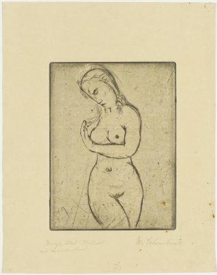 Wilhelm Lehmbruck, Junges Weib, sich umwendend, 1912, 31,8 x 24,8 cm; Graphische Sammlung, Staatsgalerie Stuttgart; © Staatsgalerie Stuttgart