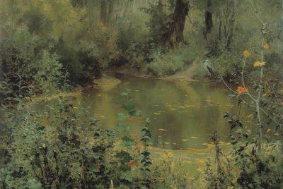 Vasilij Dmitrievič Polenov, Waldweiher, 1881, 90,5 × 134,5 cm; © Foto: Kunsthalle zu Kiel