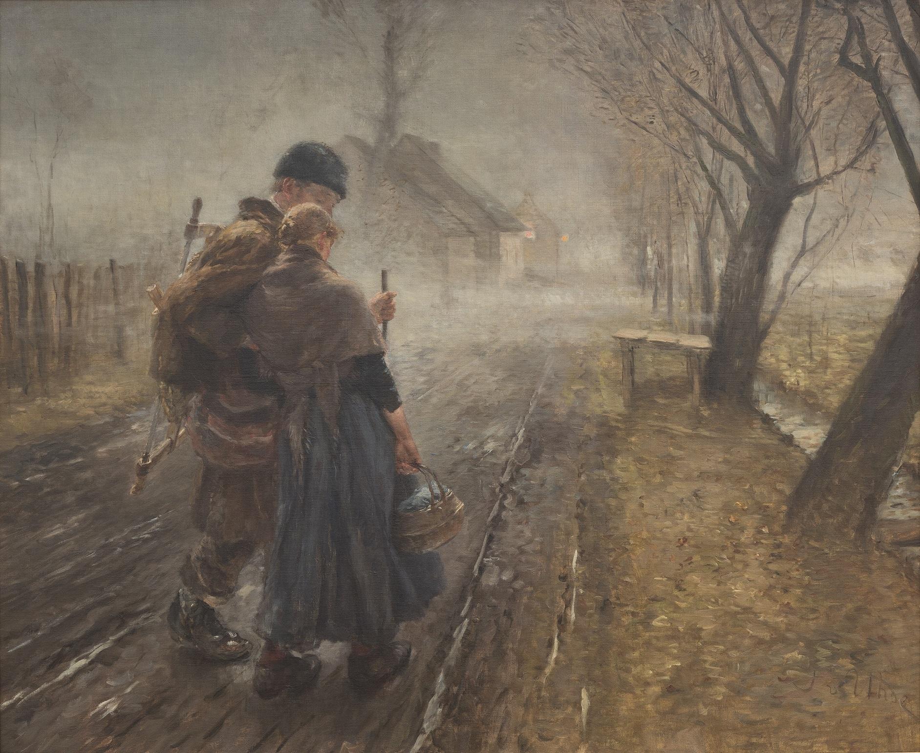 Fritz von Uhde, Gang nach Bethlehem, 1890, 92 × 110 cm; Museum Wiesbaden