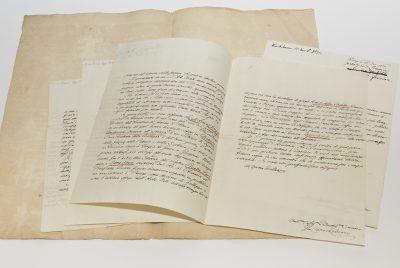 Briefe von Johann Joachim Winckelmann an Graf Wackerbarth-Salmour, 1759 bis 1761 © SLUB Dresden / Ramona Ahlers-Bergner