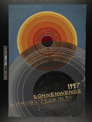 Alfred Arndt, Sonnenwende in Probstzella in Th. (Plakatentwurf), 1927; Stiftung Bauhaus Dessau; © VG Bild-Kunst, Bonn 2017