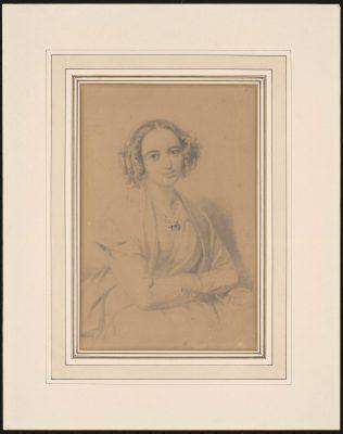 Wilhelm Hensel, Porträt von Fanny Hensel, 1847, 28,5 x 19 cm; Mendelssohn-Haus Leipzig; © Archiv Mendelssohn-Haus