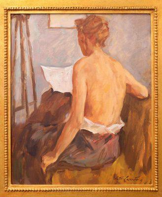 Lotte Laserstein, Weiblicher Rückenakt (Madeleine), um 1956, 46 × 38 cm; Schwules Museum; © VG Bild-Kunst, Bonn 2017 / Foto: Robert M., Berlin