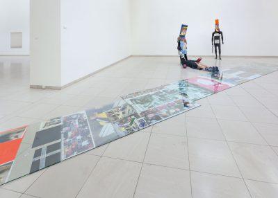 Isa Genzken, Schauspieler II, 11, 12, 2014, und Untitled, 2014; MMK Museum für Moderne Kunst Frankfurt am Main; © VG Bild-Kunst, Bonn 2017 / Foto: Axel Schneider