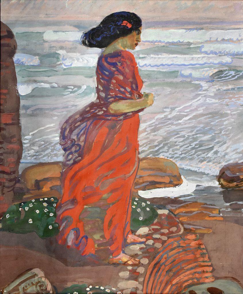 Erich Kuithan, Italienerin am Meer, 1911, 62,2×52,2 cm; Kunstsammlung Jena; © Foto: Kunstsammlung Jena