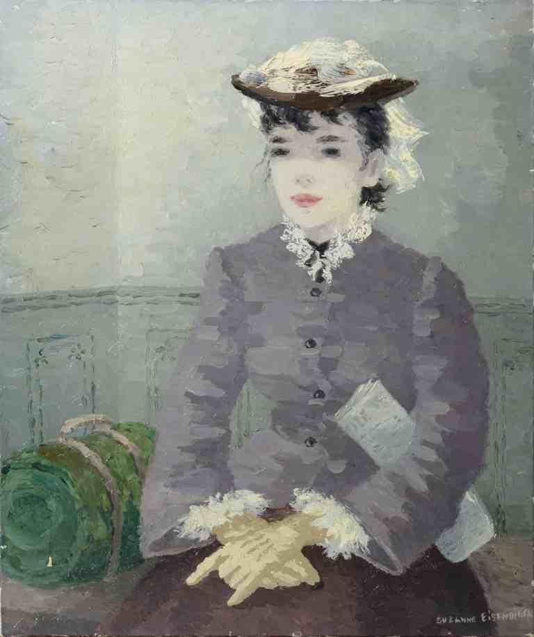 Suzanne Eisendieck, Frauenbildnis (Im Wartesaal), o.J., 56×46,5 cm; Inv. no. ZKse-1114; © The State Hermitage Museum, St. Petersburg