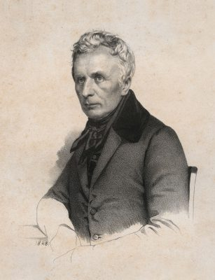 """Valentin Schertle, Bernhard von Lindenau, 1848, aus dem Mappenwerk: """"Die Männer des deutschen Volkes"""", 18,8×14 cm; Lindenau-Museum Altenburg; © Foto: Bernd Sinterhauf"""