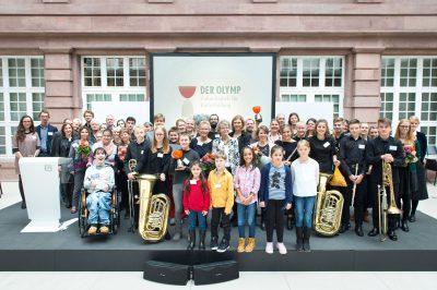 Gewinner und Nominierte des Kinder zum Olymp!-Wettbewerbs 2017; © Foto: Stefan Gloede