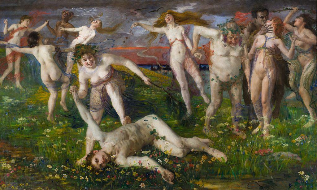 Lovis Corinth, Bacchanale, 1896, 117 × 204 cm; Landesmuseum Hannover; © Landesmuseum Hannover