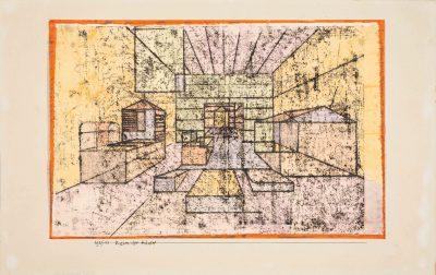 Paul Klee, Raum der Häuser, 1921, 23,8 x 35,2 cm; Privatsammlung, Schweiz, courtesy Galerie Kornfeld, Bern; © Galerie Kornfeld, Bern