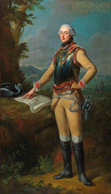 Johann Heinrich Tischbein d. Ä., Louis Gaucher, Duc de Châtillon, 1762,  223 × 129 cm; Museumslandschaft Hessen Kassel; © Museumslandschaft Hessen Kassel