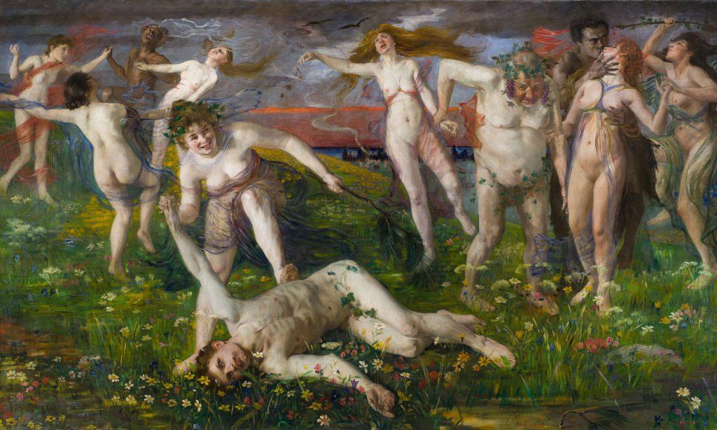 Lovis Corinth, Bacchanale, 1896, 117×204 cm; Landesmuseum Hannover; © Landesmuseum Hannover