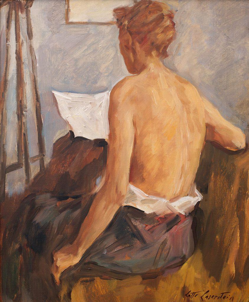 Lotte Laserstein, Rückenakt (Madeleine), um 1956, 46×38 cm; Schwules Museum, Berlin; © VG Bild-Kunst, Bonn 2017 / Foto: Robert M.