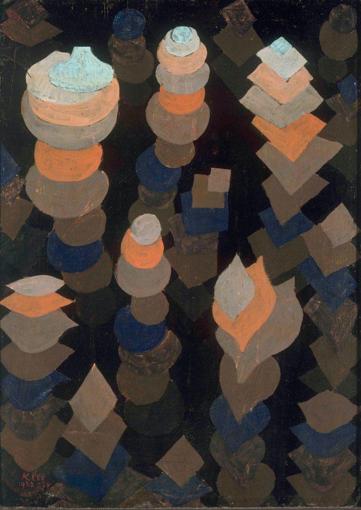 Paul Klee, Wachstum der Nachtpflanzen, 1922, 47,2×34,1 cm; Pinakothek der Moderne, München; © Bayerische Staatsgemäldesammlungen / Foto: Sibylle Forster