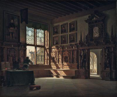 Heinrich Anton Heger, Das Rathaus in Lübeck, um 1870, 40 x 48 cm; Museum Pfalzgalerie Kaiserslautern; © Museum Pfalzgalerie Kaiserslautern / Foto: Gunther Balzer
