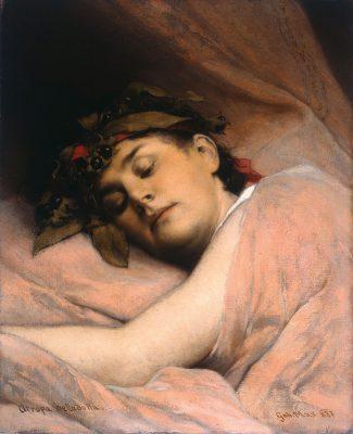 Gabriel von Max, Atropa Belladonna, 1887, 46 x 37 cm; Museum Pfalzgalerie Kaiserslautern; © Museum Pfalzgalerie Kaiserslautern / Foto: Gunther Balzer